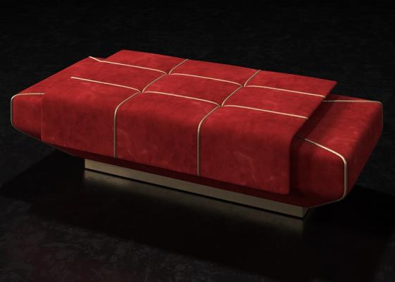 Banqueta tapizada de diseño. Mod: SOPHIA