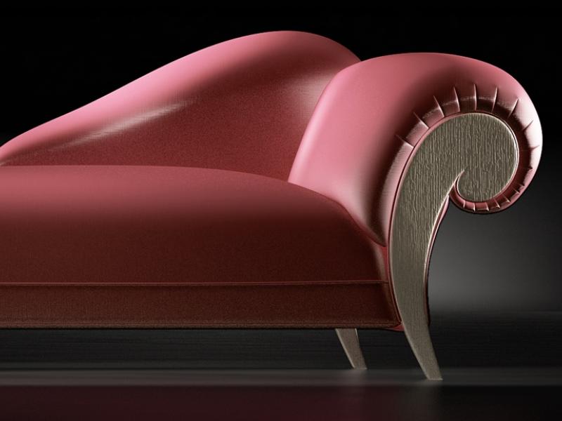 Chaisse longue tapizada.Mod: DALIDA ROBLE