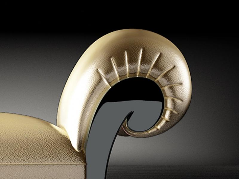 Chaisse longue tapizada y lacada.Mod: IMPERIUM LACADO