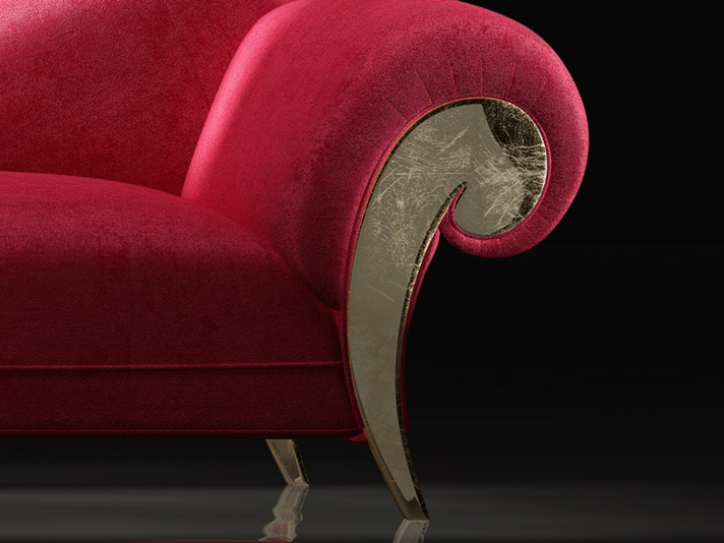 Chaisse longue tapizada.Mod: DALIDA ORO
