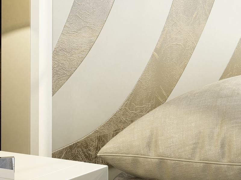 Cabecero lacado con detalles grabados en plaf�n central. Mod: KARINA