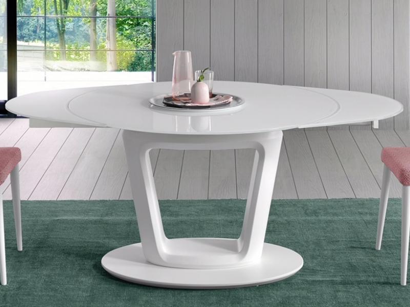 Mesa de comedor redonda extensible. Mod: AGNES