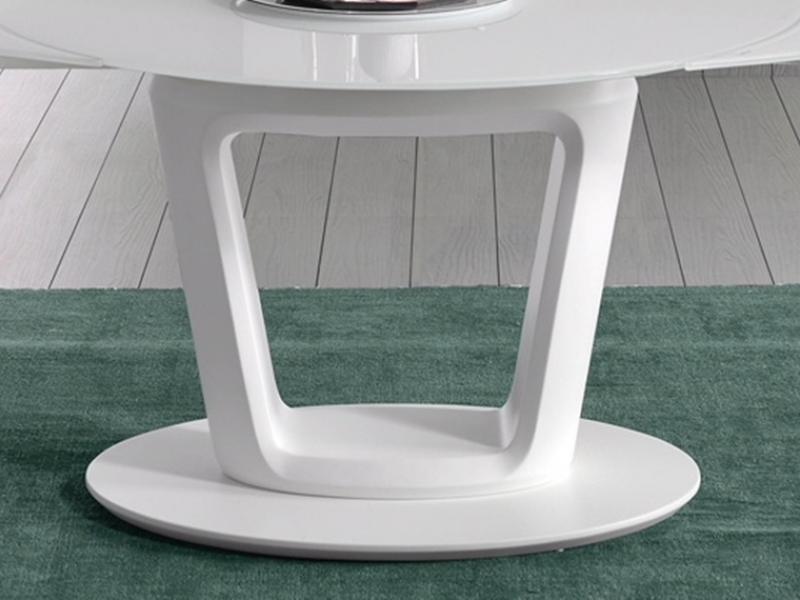 Mesa de comedor redonda extensible. Mod: AGNES REDONDA