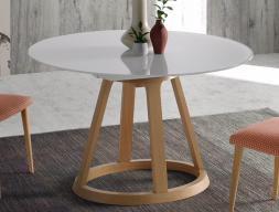 Mesa de comedor redonda extensible. Mod: JESCA