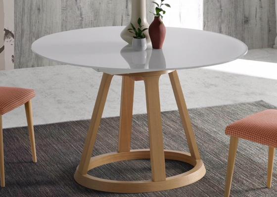 Mesa de comedor redonda extensible. Mod: JESCA R
