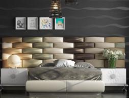 Cama completa tapizada.Mod: FADILA