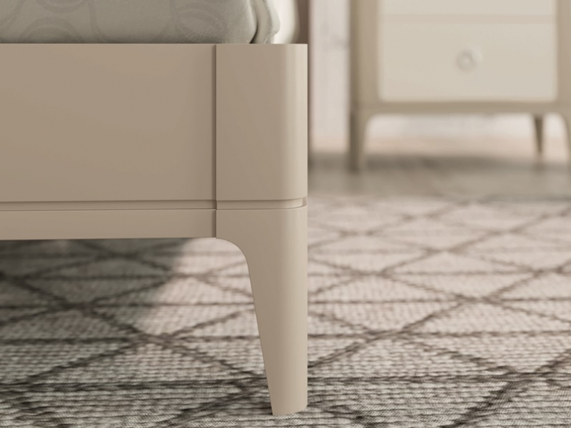 Cama completa lacada y tapizada.Mod: JOSEPHINE