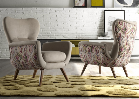 Sillón tapizado. Mod:VENECIA