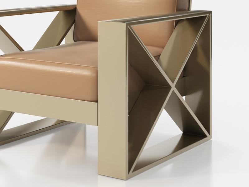 Sill�n tapizado con estructura en hierro lacado. Mod: ELIETTE
