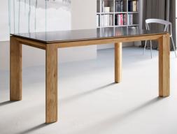 Mesa de comedor extensible con tapa de madera, lacada, cristal o cerámico . Mod: MIRO