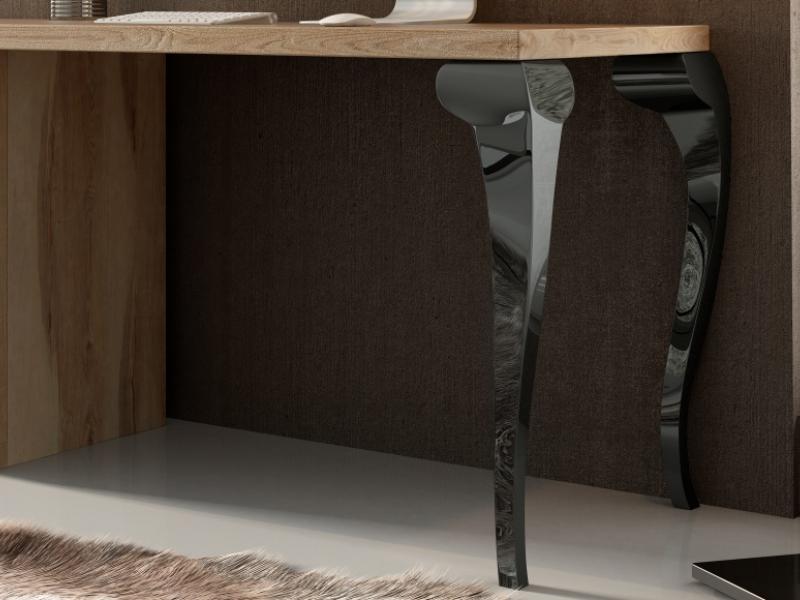 Escritorio en roble con patas lacadas y 3 cajones.Mod: MELINA
