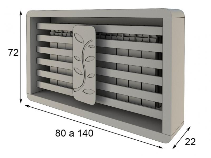Cubreradiador. Mod: MELINA
