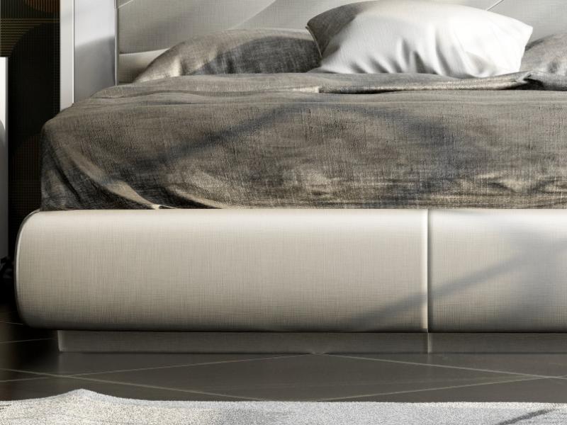 Cama completa lacada y tapizada. Mod: ZULEMA
