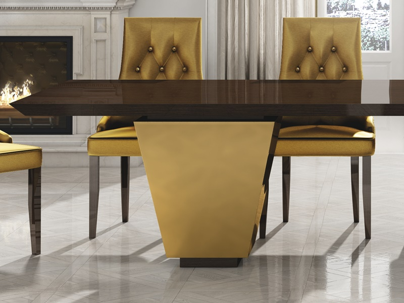 Mesa de comedor fija lacada, mod: LUXE