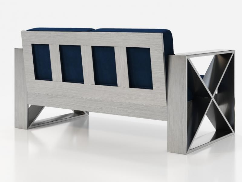 Sof� tapizado con estructura en hierro lacado. Mod: ELIETTE