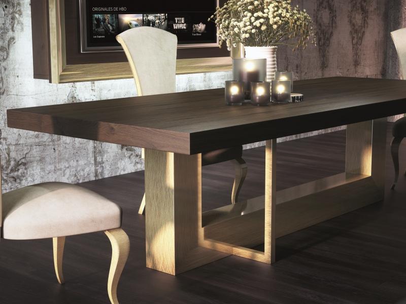 Mesa de comedor extensible tapa en roble. Mod: OSTENDE