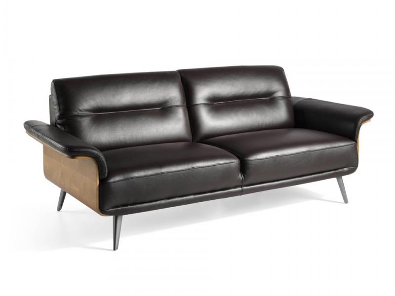 Sofa de 3 plazas en cuero. Mod. TIVOLI 3P