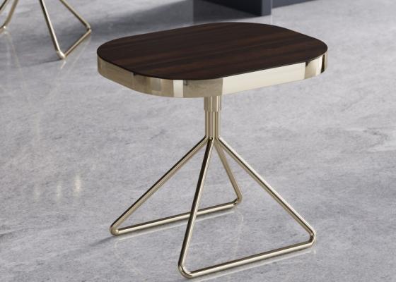 Mesa de rincón de diseño en acero. Mod: BIBI