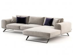 Sofá de diseño con chaise longue. Mod:VERONA