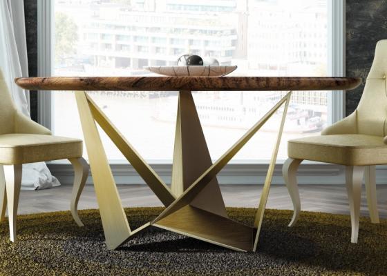 Mesa redonda tapa de madera maciza de fresno.Mod: DIMA WOOD