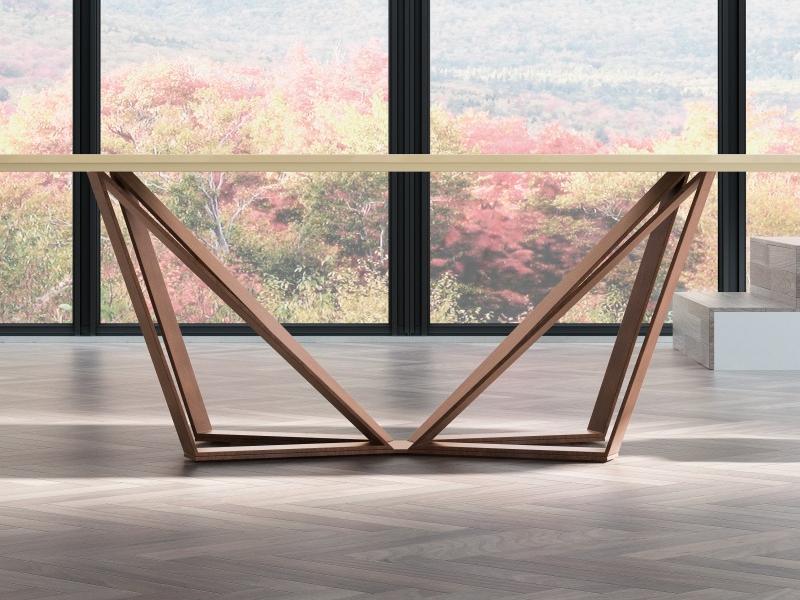 Mesa de comedor con tapa de m�rmol. Mod: NICOLA