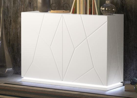 Zapatero lacado con luz led. Mod: NAUGE