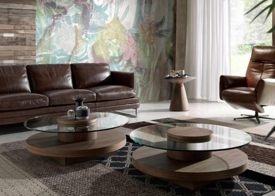 Mesa de centro redonda, mod: HOOK-R