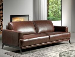 Sofá de 3 plazas en cuero. Mod. LUXOR-3P