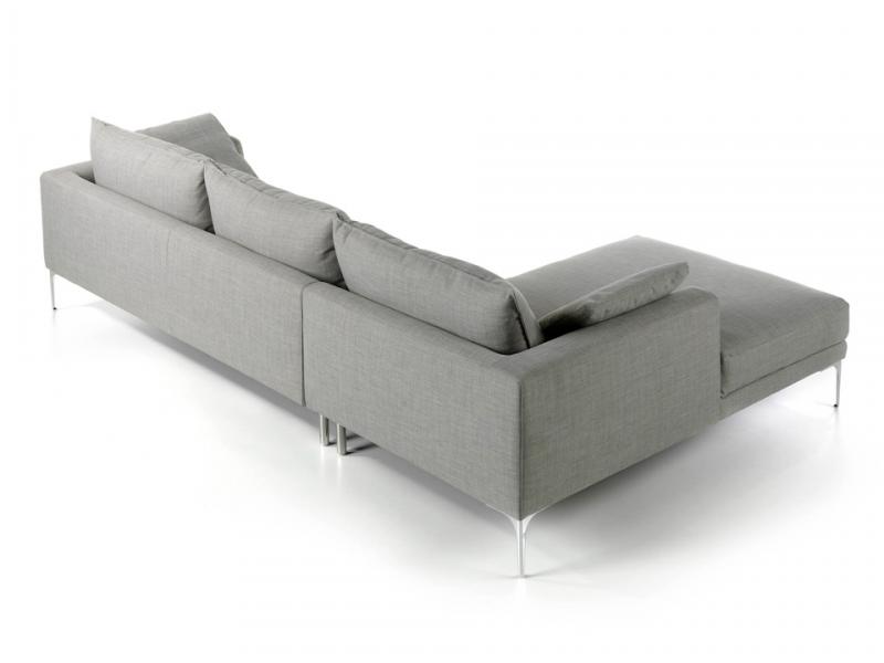 Sofa chaise longue tapizado. Mod. ZOE-CL-L