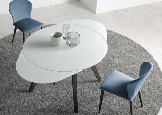 Mesa de comedor redonda extensible. Mod: DORMA