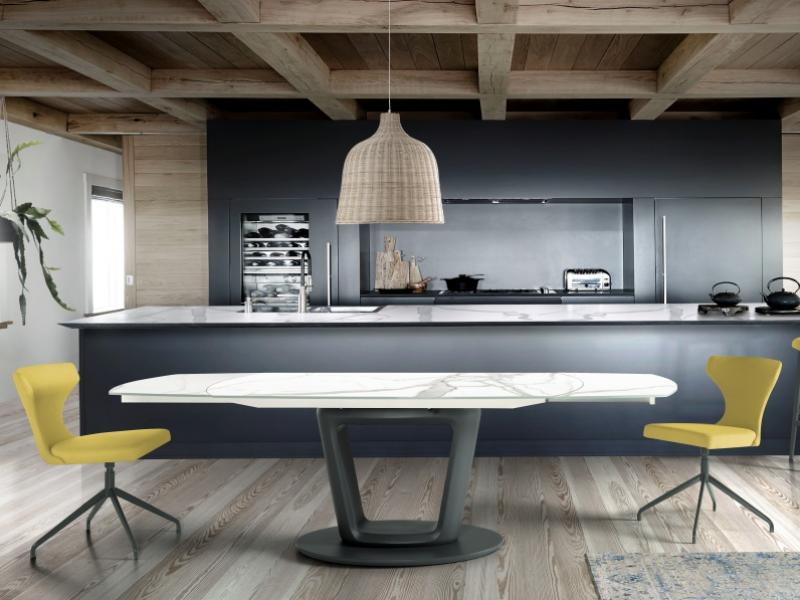 Mesa de comedor extensible con tapa cer�mico. Mod: AGNES CER�MICO
