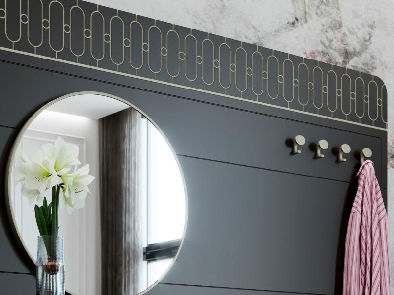 Mueble recibidor con consola y espejo. Mod: MENTON