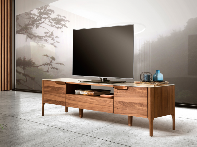 Mueble TV con tapa porcel�nica. Mod. DINA/TV