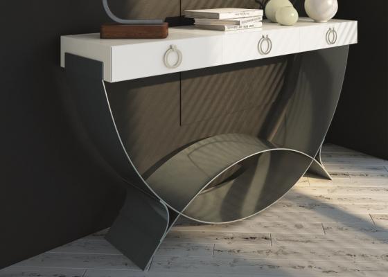 Consola de diseño con 1 cajón Mod: CRETA
