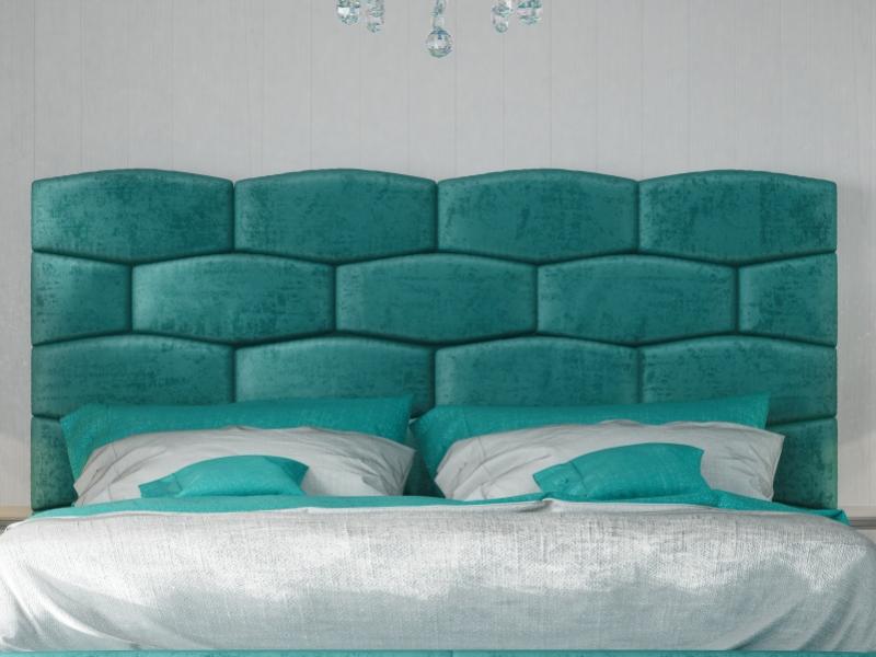 Cama completa tapizada.Mod: KAELA