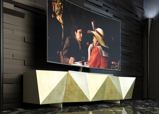 Mueble TV lacado de diseño. Mod: DIAMANT