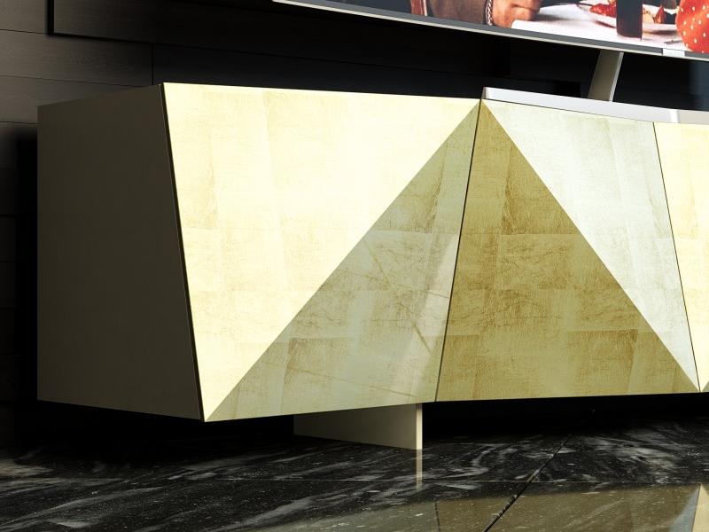 Mueble TV lacado de dise�o. Mod: DIAMANT