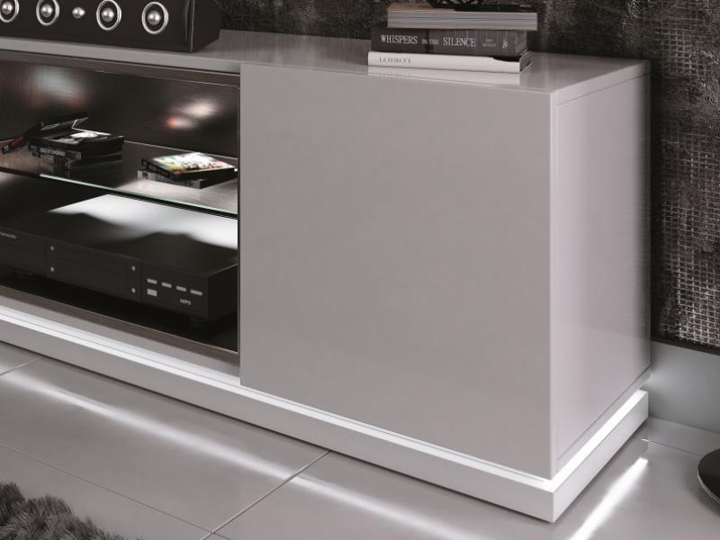 Mueble TV lacado con luz led.Mod: DAMA