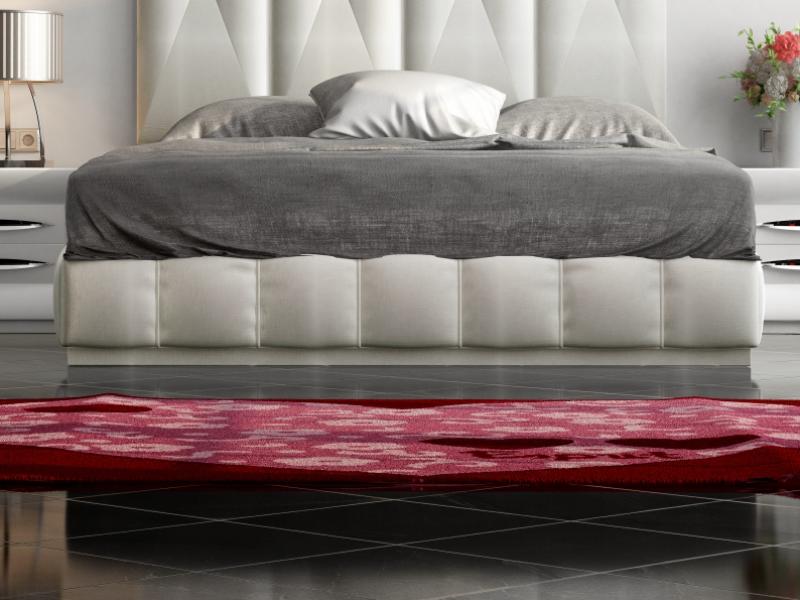 Cama completa lacada y tapizada con cabecero XXL. Mod: LAPIS