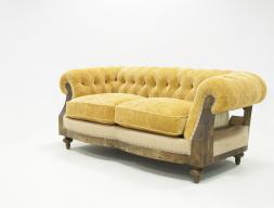 Sofá chester capitonne tapizado en tela. Mod: AYLLON