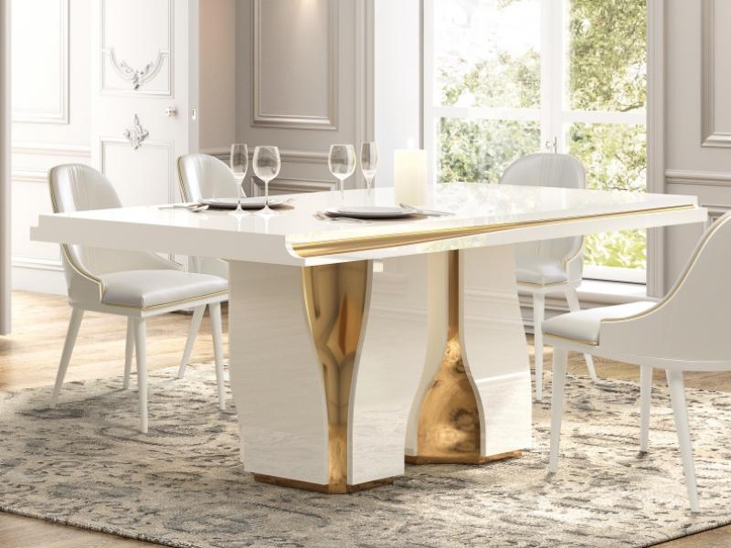 Mesa de comedor fija con cubertero. Mod: ESSENCE