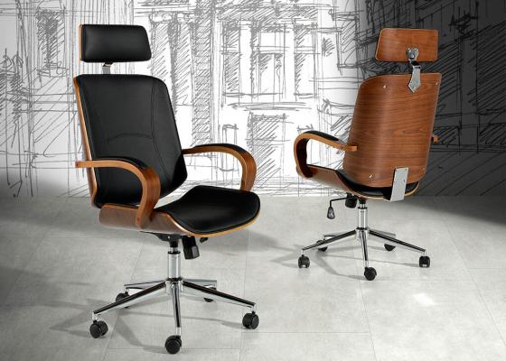 Sillón de oficina tapizado. Mod: GOUDA