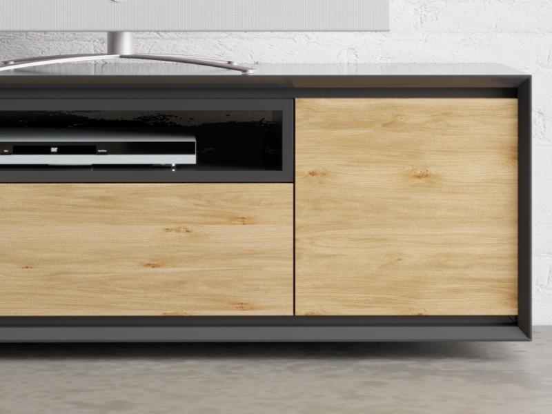 Mueble TV lacado de 2 puertas ,caj�n y hueco : Mod: JANKO TV-C