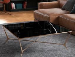 Mesa de centro con tapa de cristal. Mod: RHONE