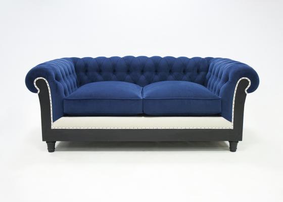 Sofá chester capitonne tapizado en piel. Mod: MARGATE