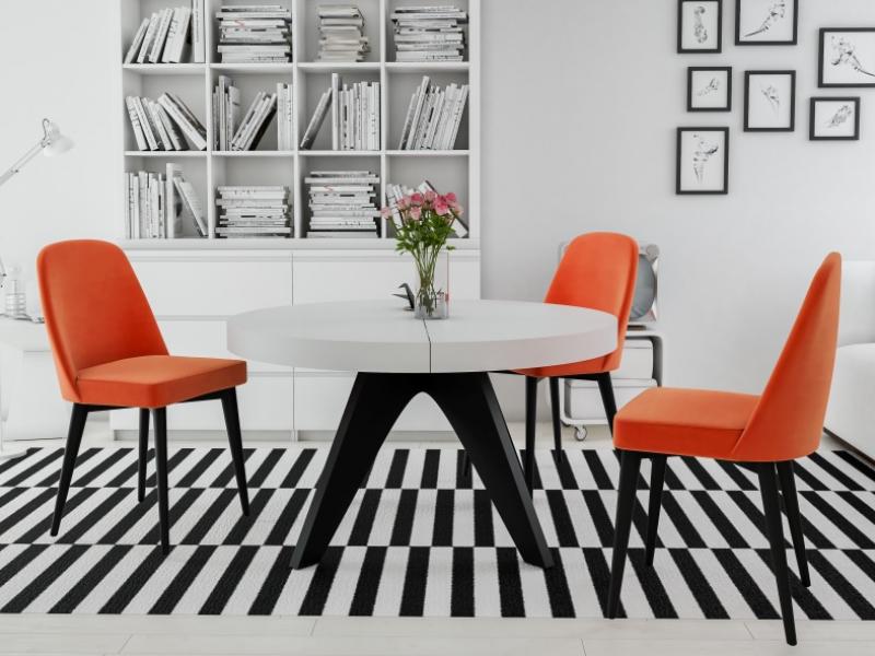 Mesa de comedor redonda extensible.Mod: ROUND