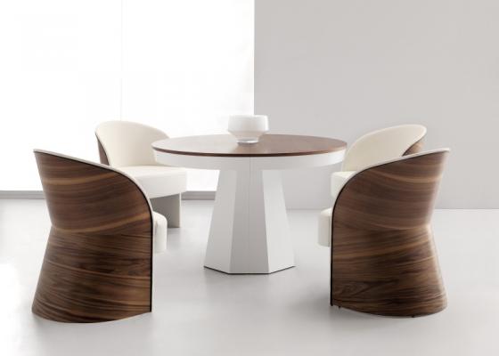 Mesa de comedor redonda extensible.Mod: MALDON
