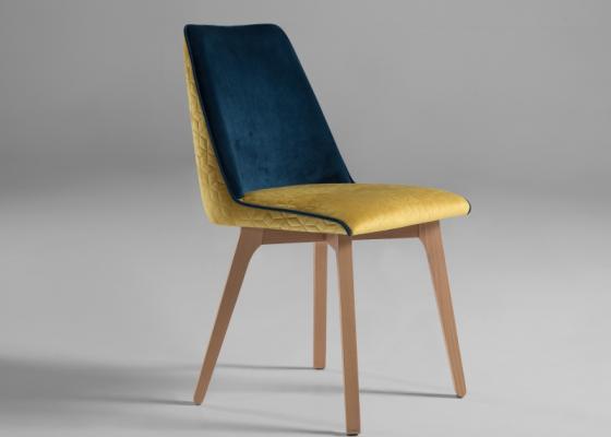 Juego de 2 sillas tapizadas. Mod. DIEPPE