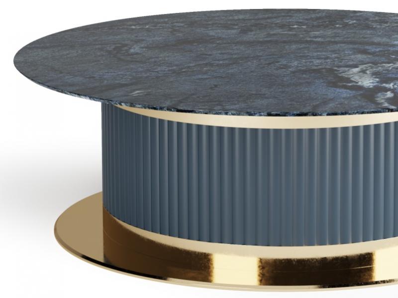 Mesa de centro con tapa de m�rmol. Mod: MONSIEUR
