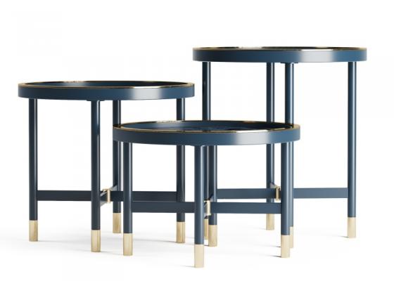 Conjunto de 3 mesas de centro,Mod: MONSIEUR